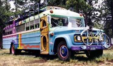 Rainbow Gathering 1998, School Bus